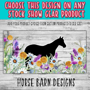 Horse Silhouette in Wildflowers Design