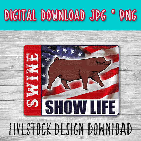 Duroc Barrow USA Swine Show Life Digital Download