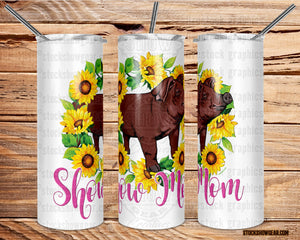 Show Mom Duroc Sunflower Wreath Skinny Tumbler