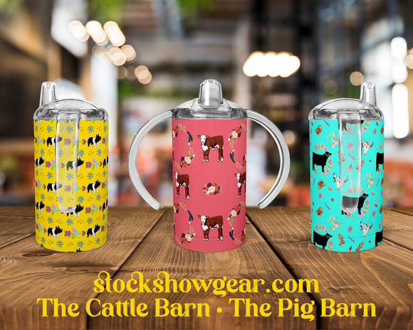 Pig and Cow Straight Sippy Training Cups Pre-Order Round 1