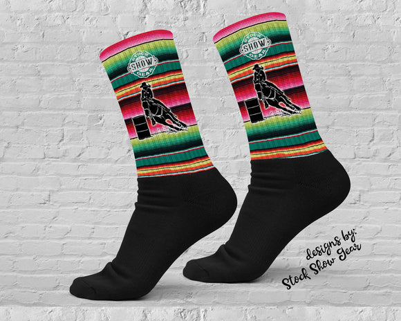 Barrel Racer Serape Socks