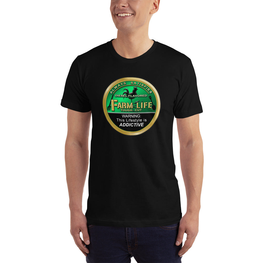 Farm Life Green Can Rooster T-Shirt