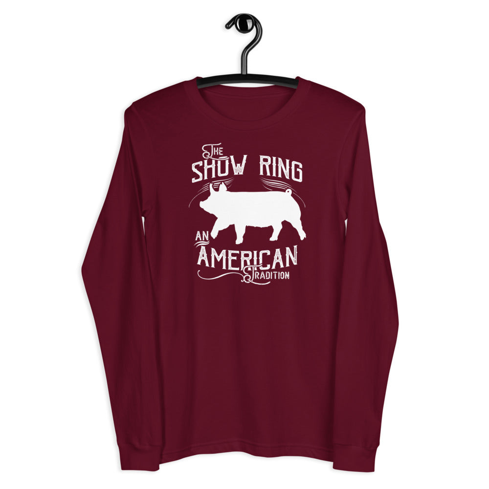 American Show Ring Tradition Long Sleeve Tee - Up Pig