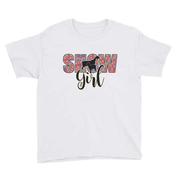 Youth Show Girl Livestock Sleeve T-Shirt