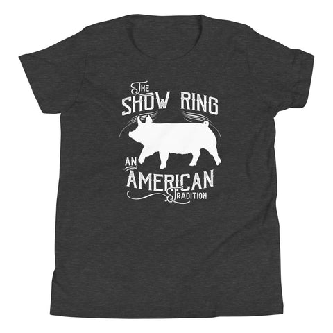 American Show Ring Tradition Youth Short Sleeve T-Shirt-Up Pig