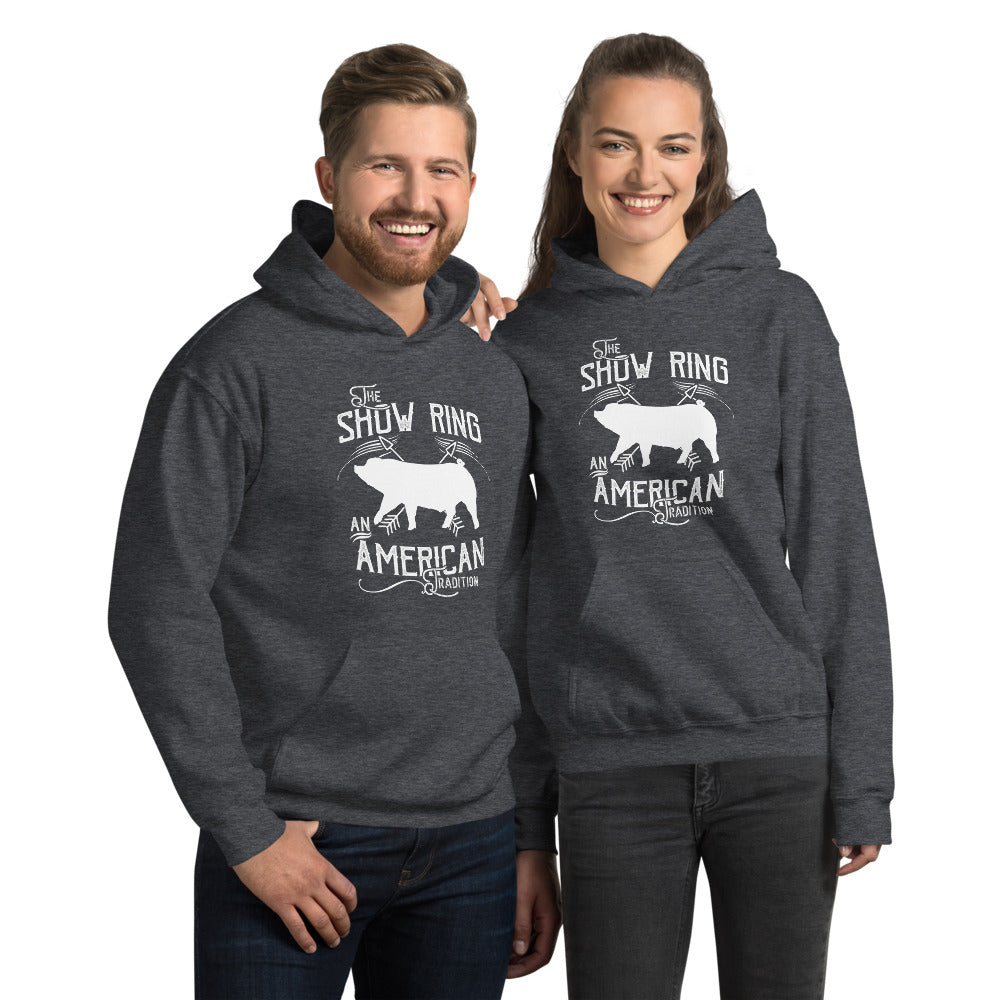 American Show Ring Tradition Hoodie-Down Pig