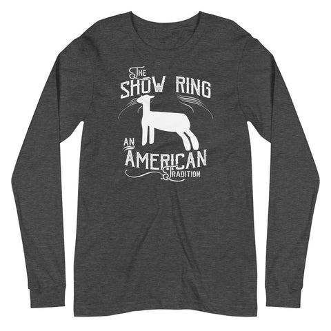 American Show Ring Tradition Long Sleeve Tee - Lamb