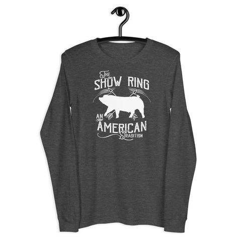 American Show Ring Tradition Long Sleeve Tee - Down Pig