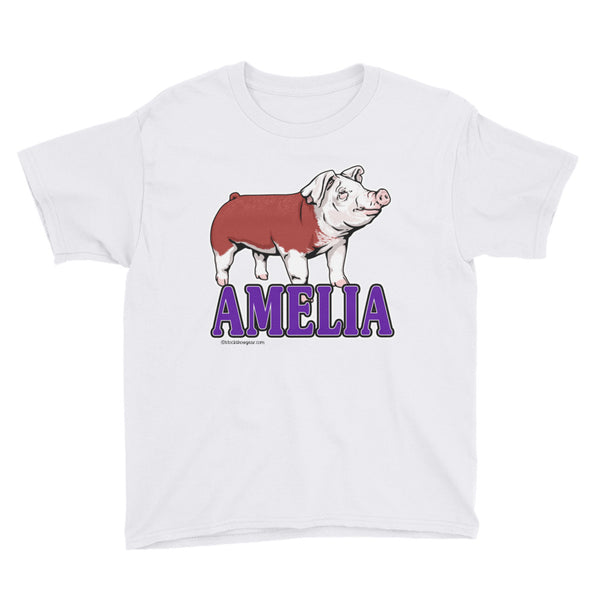 Hereford Pig Youth Short Sleeve T-Shirt