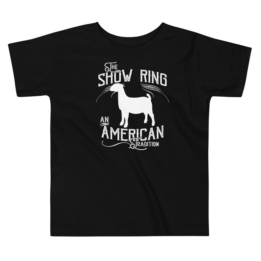 American Show Ring Tradition Toddler Short Sleeve Tee - Goat