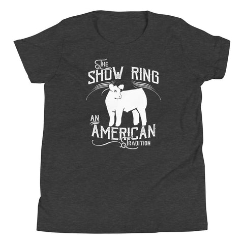 American Show Ring Tradition Youth Short Sleeve T-Shirt-Steer