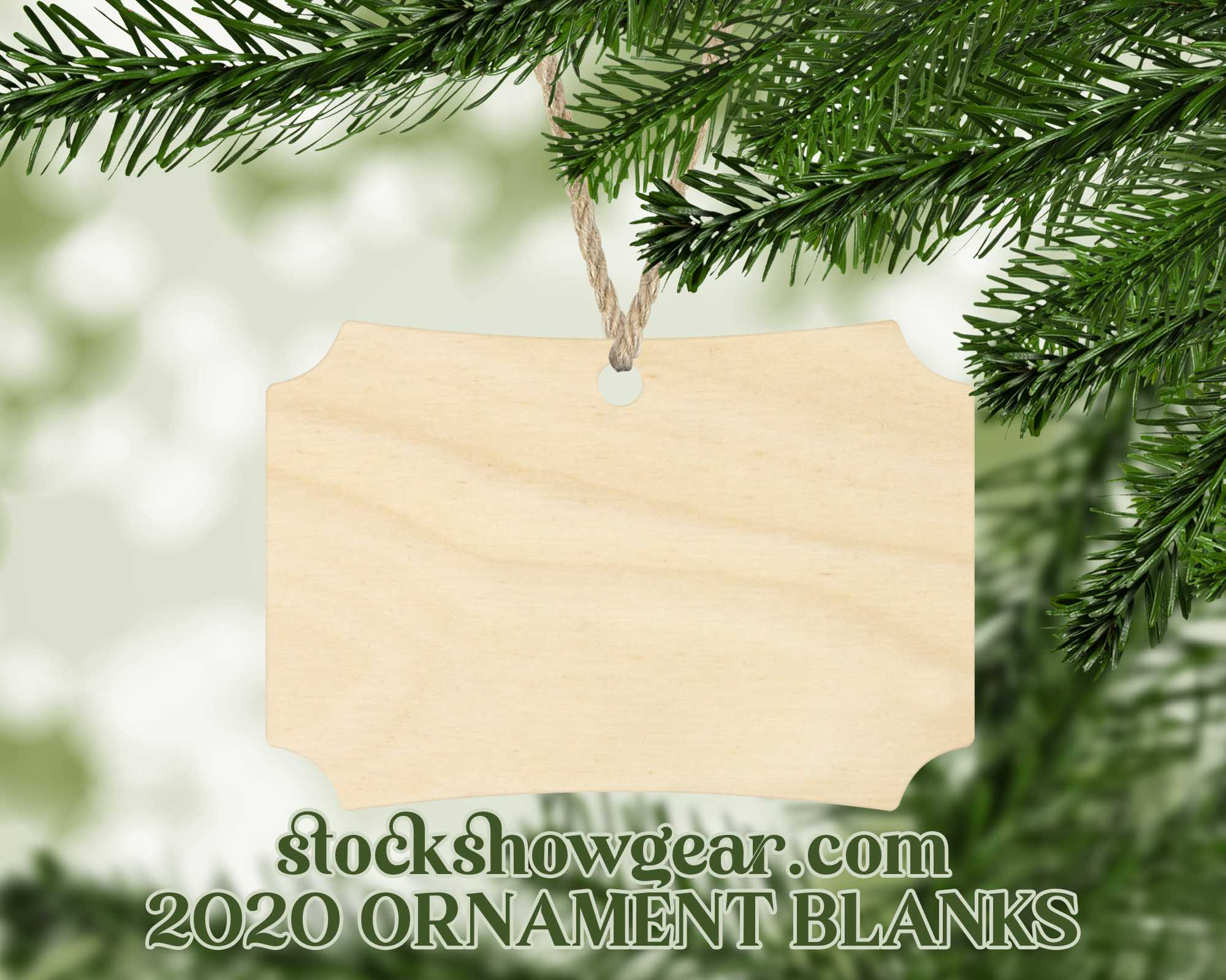 Natural Wood Ornaments