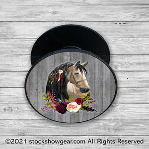 Beautiful Horse Head Design Pop Phone Holders