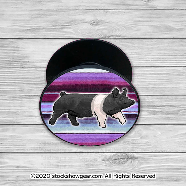 Hampshire Pop Your Livestock Phone Holders-Purple Serape