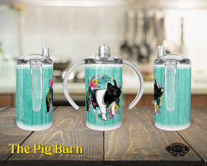Hampshire PIg 12oz. Straight Sippy Training Cup-Happy Wreath