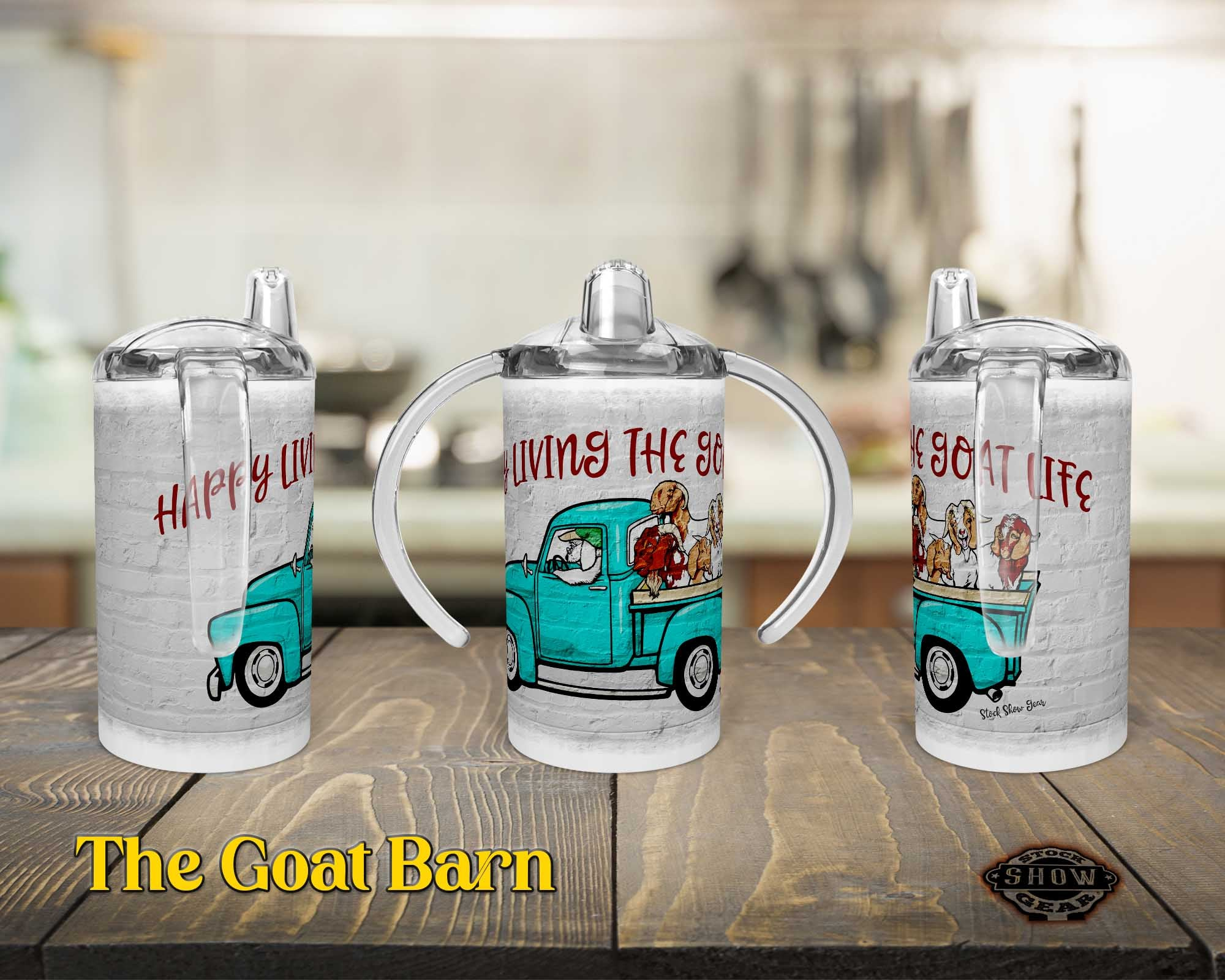 Fun Goat Truck 12oz. Straight Sippy Training Cup-Happy Livin' Design