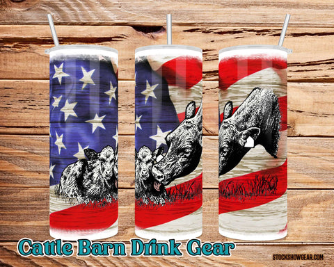 Calf Lick Tumbler Split USA Themed