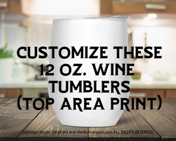 Stemless Wine Tumblers-Blank