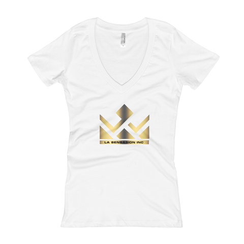 Gold LSI Women's V-Neck T-shirt