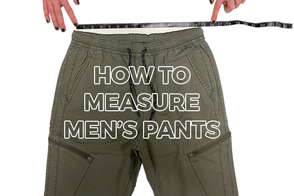 how to measure mens pants