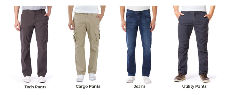 types of pants for men