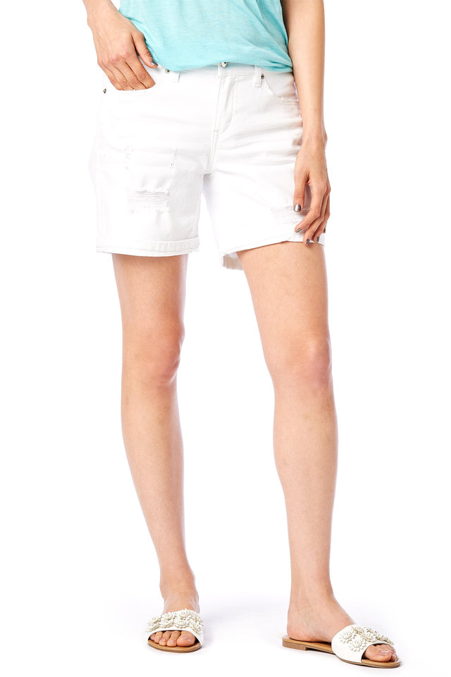Marni Destructed White Denim Short