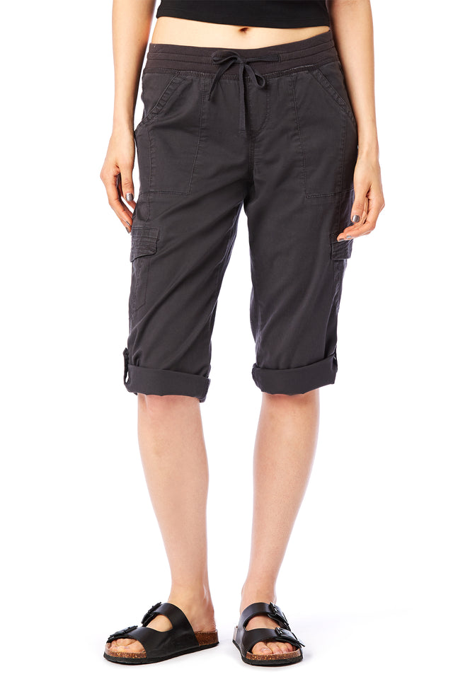 Grey Skimmer Crop - Women's Shorts