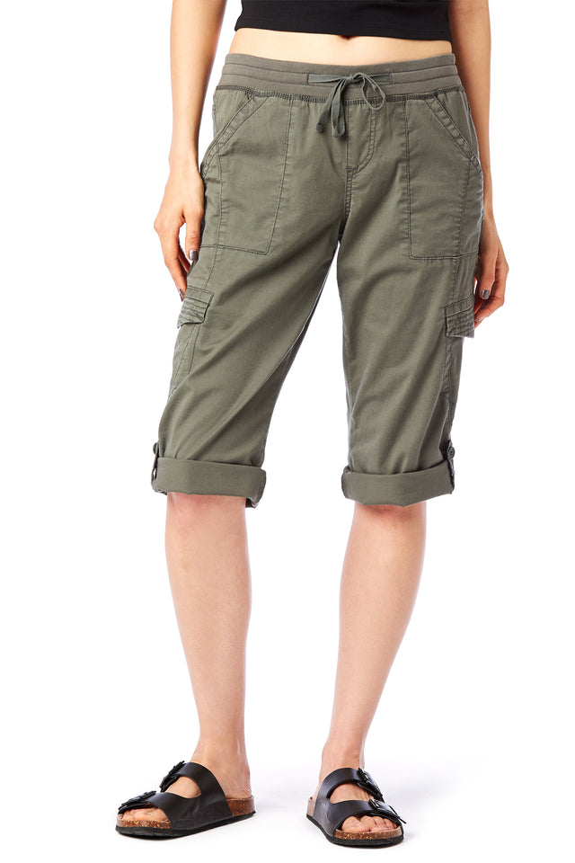 Green Skimmer Crops - Women's Shorts