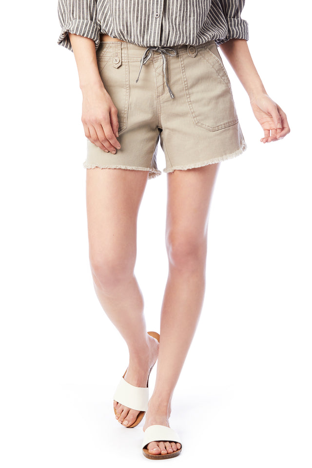 Raw Hem Taupe Short - Women's Shorts