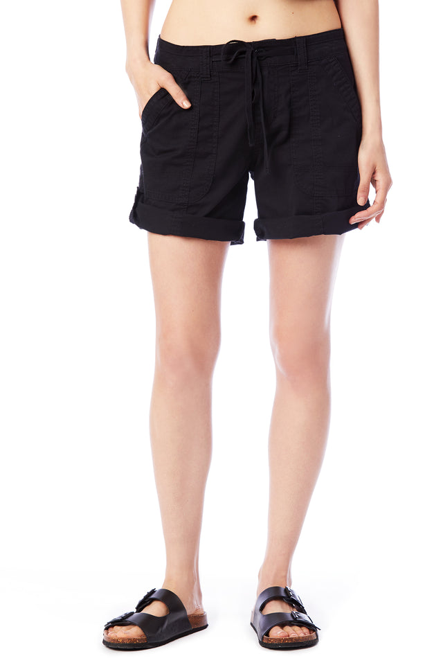 Black Convertible Shorts - Women's Shorts