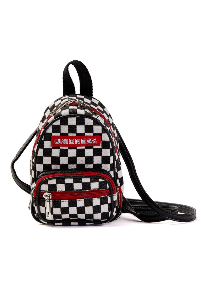 Checkered Mini Backpack