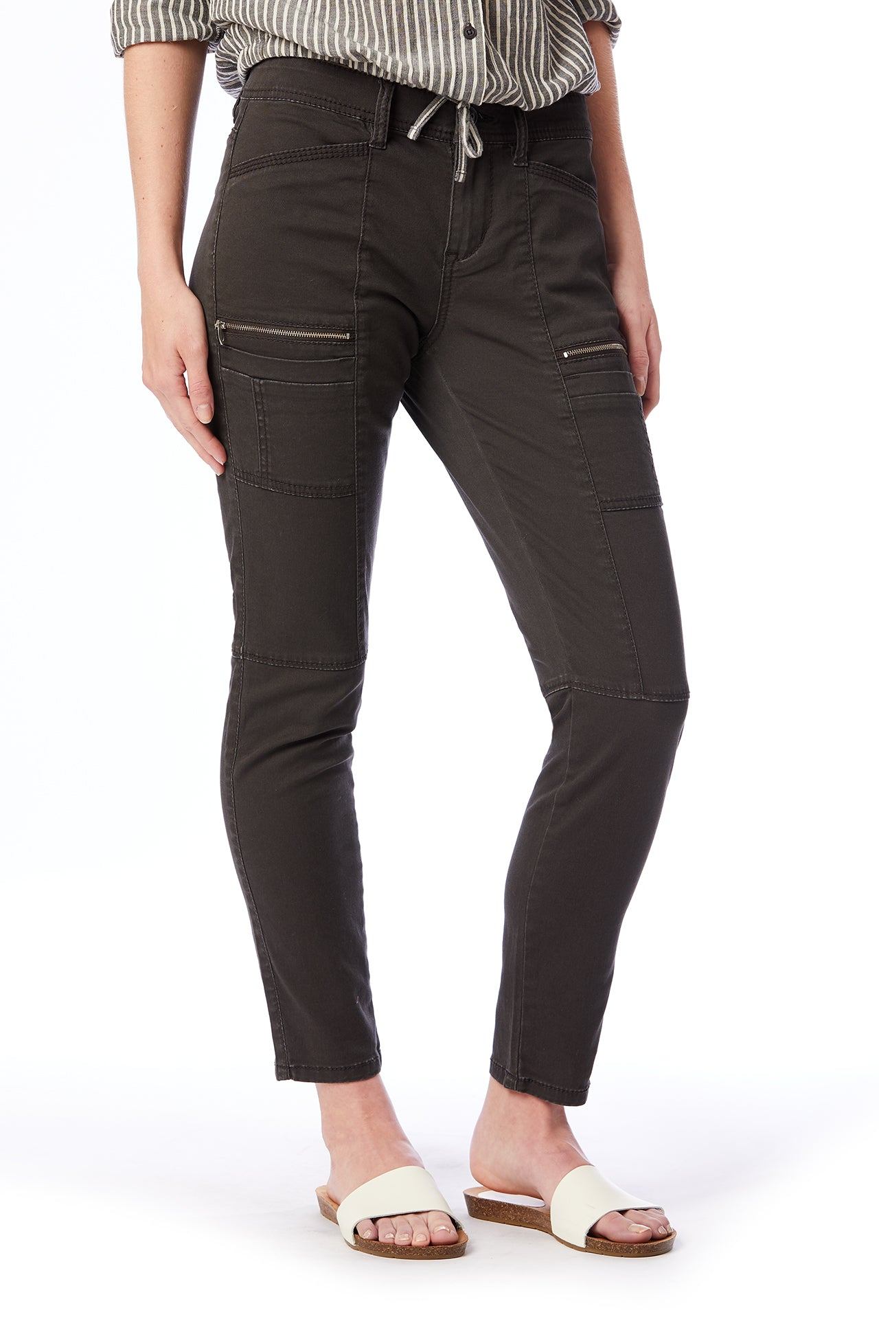claire slim fit cargo pant (reg and plus size)