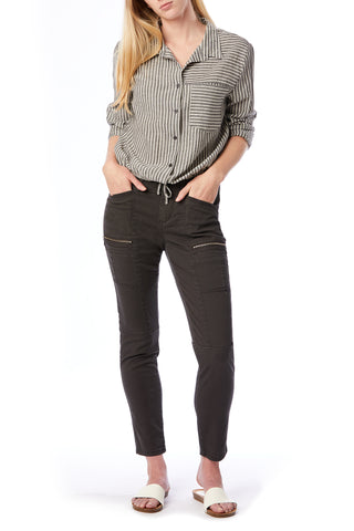 Claire Skinny Zip Cargo Pants for Women