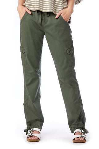 Deloris Elastic Cargo Pants for Women