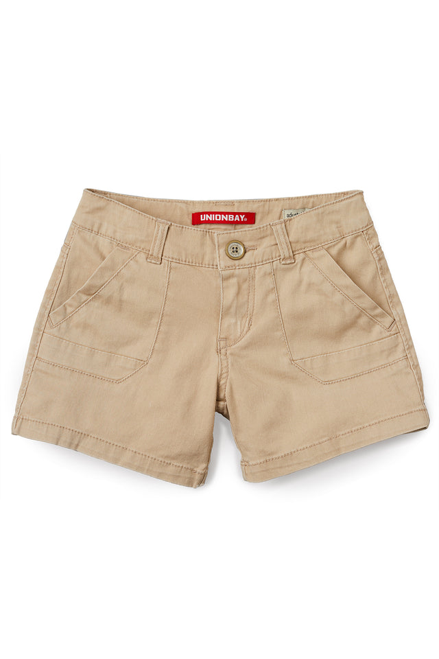 Cindy Stretch Twill Shorts for Girls