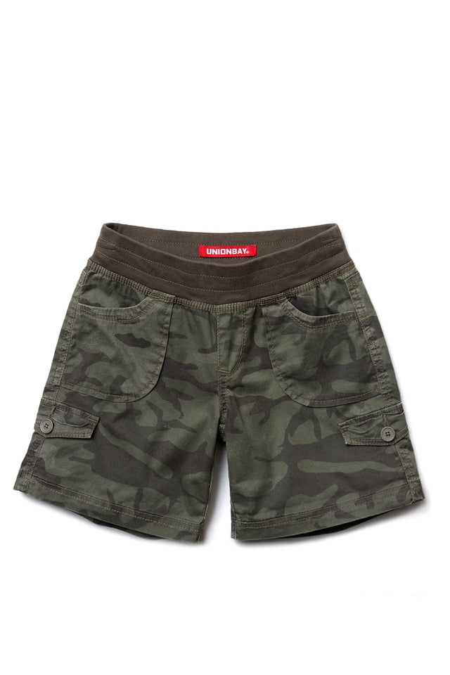 Macky Camo Convertible Shorts for Girls