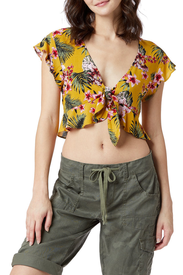 Gina Tropical Floral Top