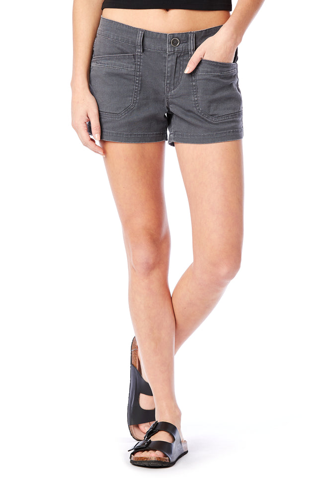 Grey Delaney Solid Shorts - Unionbay Women's Shorts