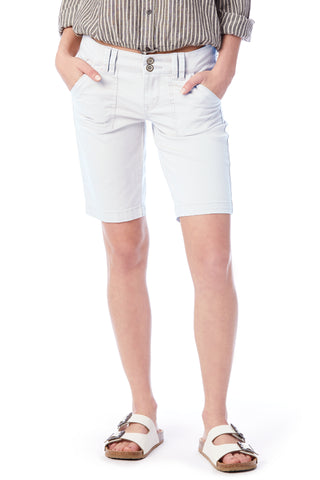 White Bermuda Shorts - Women's Shorts