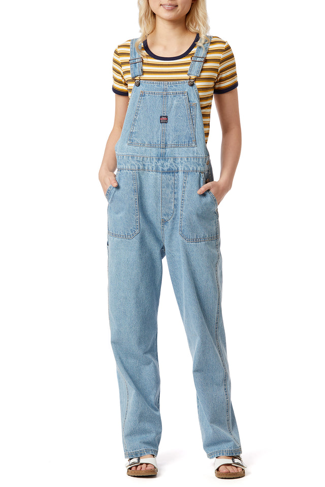 Sioxsie Denim Overalls for Women Front