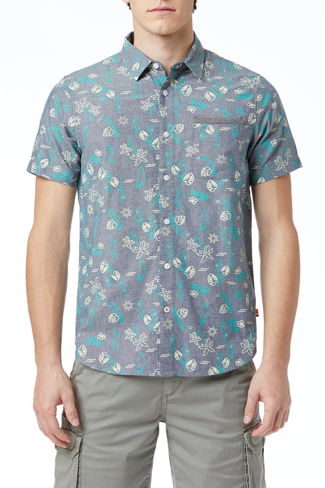 Frankie Chambray Print Shirt (More Prints)