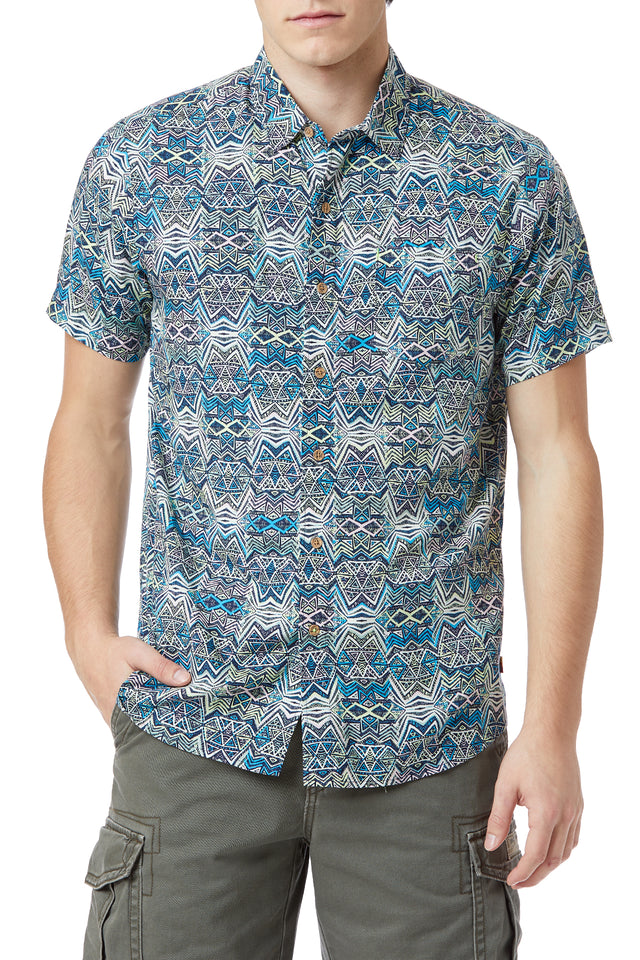 Bradley Rayon Button-Up Shirt (More Prints)