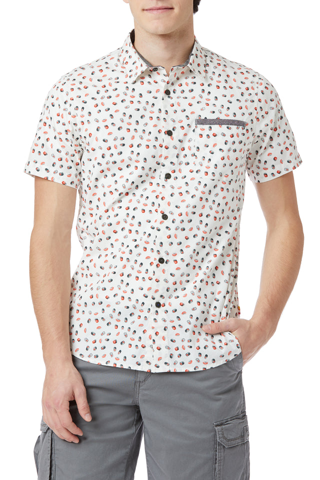 Fletcher Short-Sleeve Printed Shirt (More Prints)