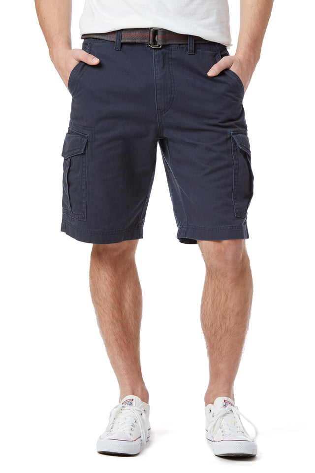 Alfie Twill Cargo Shorts for Men, True Navy