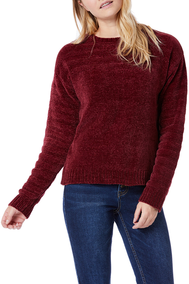 Berry Soft Chenille Sweaters for Women - Front View