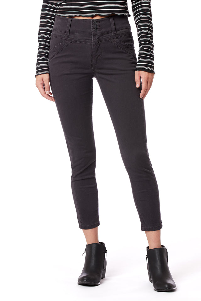 Carlotta High Rise Skinny Pants for Women - Grey - Front