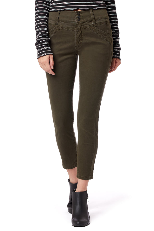 Carlotta High Rise Skinny Pants for Women - Green - Front