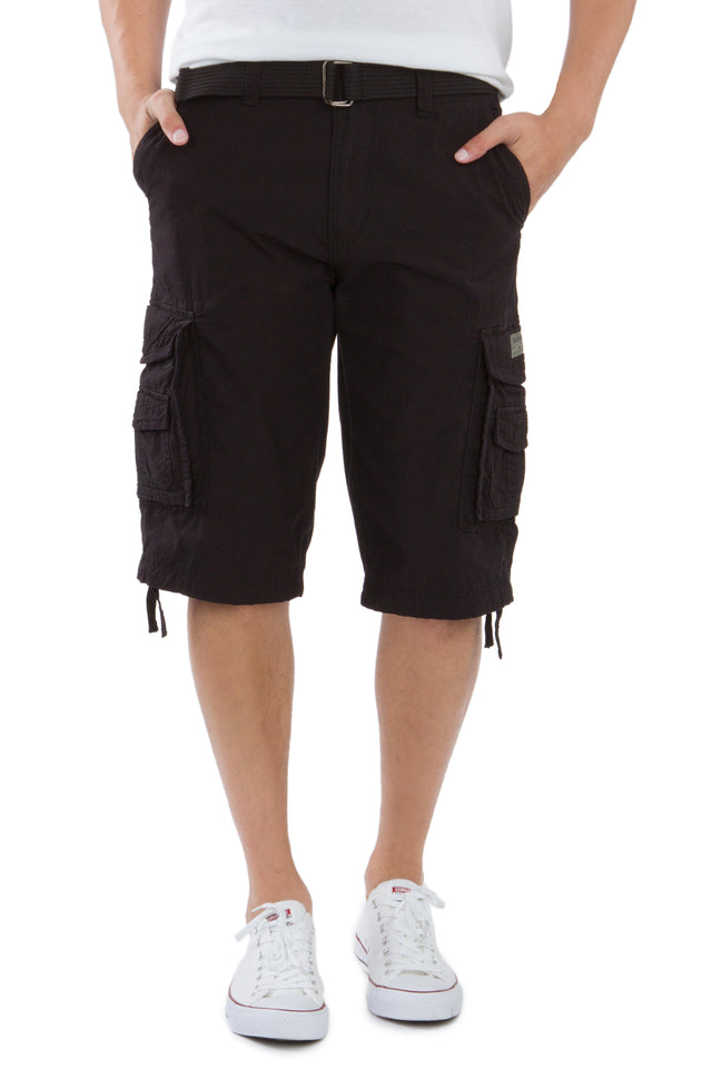 Cordova Cargo Messenger Shorts, Black