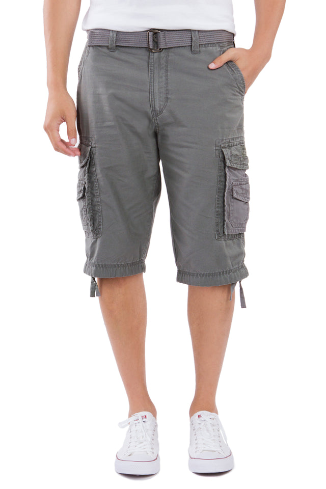 Cordova Cargo Messenger Shorts, Grey