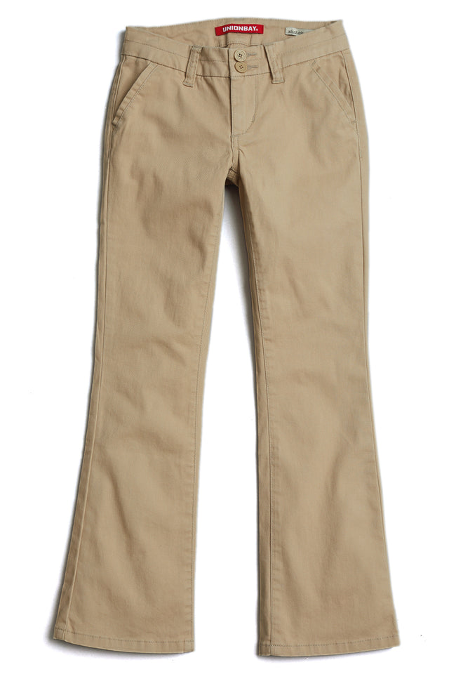 Beige Hayden Trouser Pant for Girls - Front View